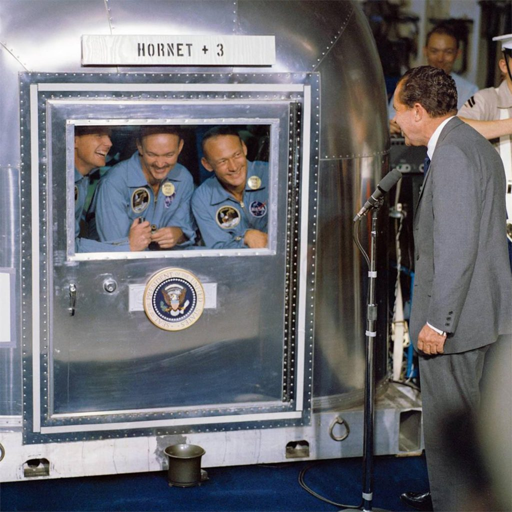 Apollo 11 Astronauts in Airstream With President Nixon