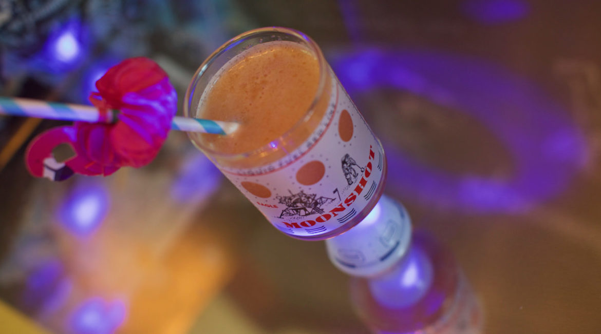 The Moonwalk is a cocktail created to commemorate the Apollo 11 moon landing in 1969. This bubbly citrus drink is easy and inexpensive to make at home.